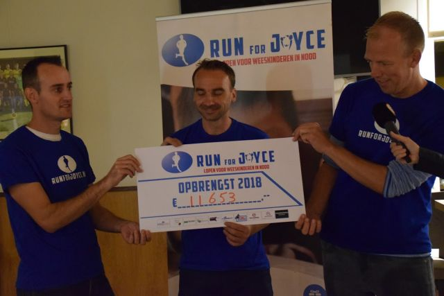 Ondanks onstuimig weer toch mooie opbrengst voor Run for Joyce